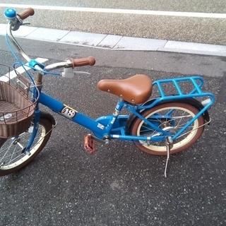 子供用自転車16インチ青色