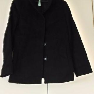 スタンドカラー コート ショート丈 Mサイズブラック