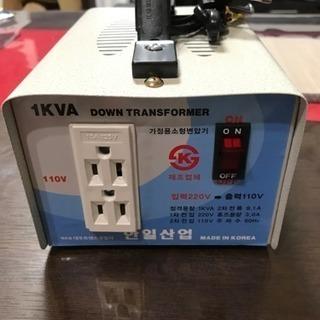 【値下げ】トランス 変圧器 韓国