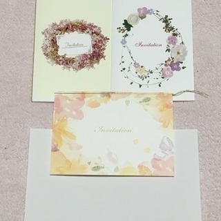 招待状 サンプル 中紙付 お花