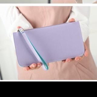 新品未使用超高級感小物 皮革ムラサキポーチ 女性用ハンドバッグ h...