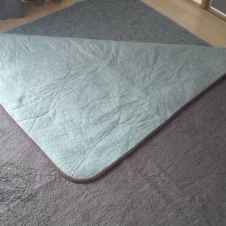 電気カーペット(2畳)とラグマットのセット 冬支度にいかがでしょうか?