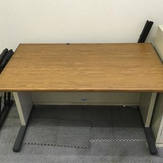 オフィス机と椅子2脚セット