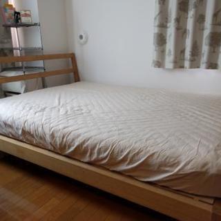 無印良品 オーク材ベッド/セミダブルベッド