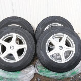スタッドレスタイヤ 4本 ホイール付 225/70/R16 中古品