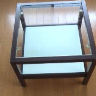 サイドテーブル ガラス×金属