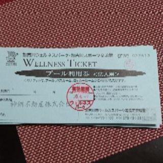 加古川市ウェルネスパークプール利用券10枚綴