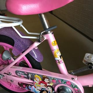 美品!女の子向け16インチディズニープリンス自転車