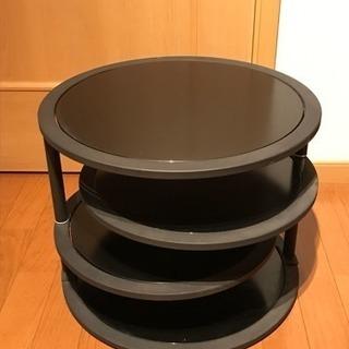 ラウンドテーブル サイドテーブル 黒