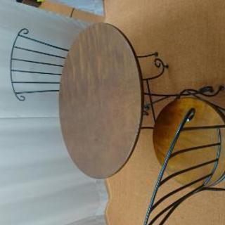 椅子付き ガーデンテーブル