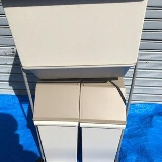 ASVEL ゴミ箱 ダストボックス コマ付 30L 15L×2個 ...