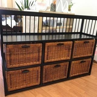 アジアン家具 棚 シェルフ