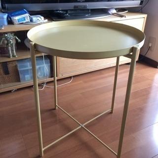 IKEA GLADOM トレイテーブル, ライトイエロー