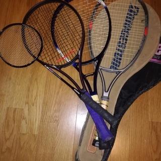 硬式テニスラケット 3本 (PROBEAM TOUR Over等...