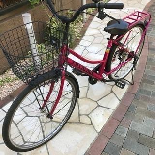6段ギヤ 自転車 26インチPATIO BOX 美品