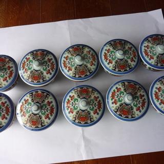 蓋付湯呑茶碗10個組(値下げ致します)