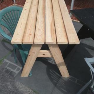 ガーデンテーブルベンチ(ハンドメイド)