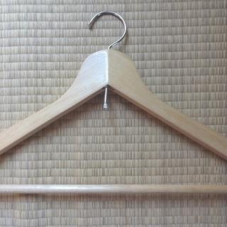 中古 木製ハンガー 17本