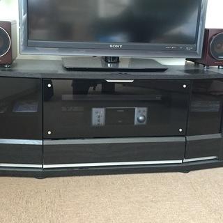 美品、ブラック テレビボードお譲りします