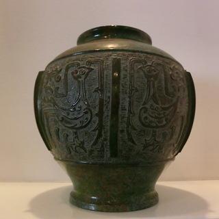 青銅?花瓶 銅器   フラワーベース 花器 置物