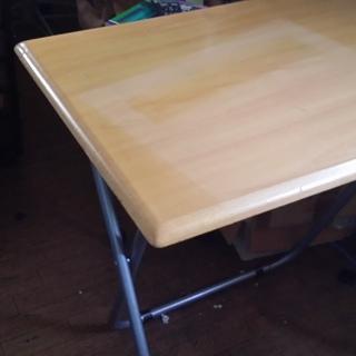 木製天板テーブル