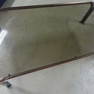 3c018 ガラステーブル 長方形 中古 引取限定
