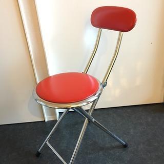 折りたたみ椅子 赤