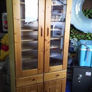[カントリー調食器棚]難有り特価⁑リサイクルショップヘルプ