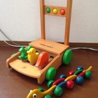 KATOJI 押車 チロルタウン(カタカタ) ヘビ木のおもちゃ