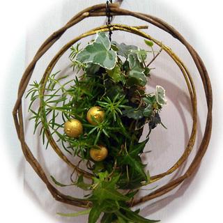 クリスマスもお正月も使える生きた植物リースを作りませんか♫3名〜グ...