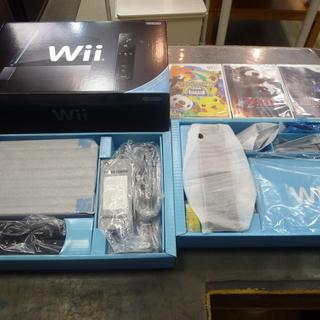 新品 任天堂 Wii本体(クロ) Wiiリモコンプラス RVL-S...