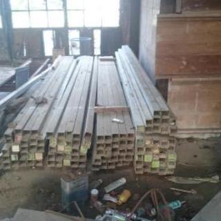 型枠用鋼管バタ角  4m  2m  各種サイズあり。