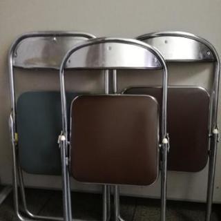 折り畳みパイプ椅子3台セット