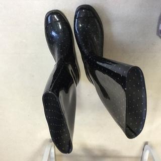 水玉 長靴 Lサイズ