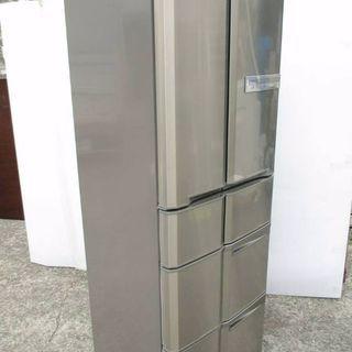 MITSUBISHI ノンフロン冷凍冷蔵庫 6ドア415リットル大...