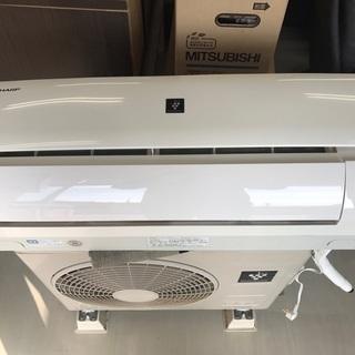 シャーププラズマクラスター 2.2Kw冷暖房エアコン6畳用13年製...