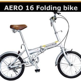 新品 折りたたみ自転車 エアロ16型コンパクト HB-160CPFD