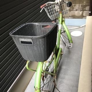 自転車 黄緑色 電動ではありません。 - 自転車
