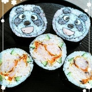 パンダの飾り巻き寿司を作ろう