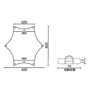 2回使用  美品  コールマン タープ XPヘキサタープ/S − 神奈川県