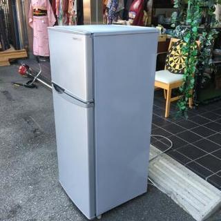 シャープ 13年製 2ドア 冷凍冷蔵庫 掃除済み SJ-H12W 118L  - 家電