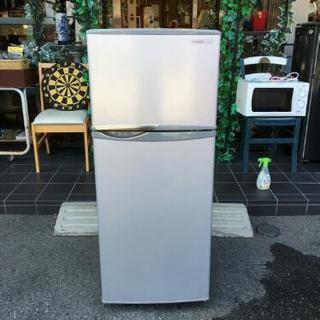 シャープ 13年製 2ドア 冷凍冷蔵庫 掃除済み SJ-H12W 118L の画像