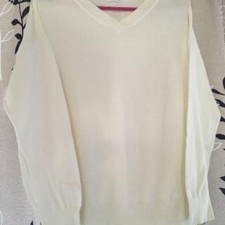 白のセーター★L