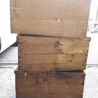 りんごの木箱 1個(あと5個→3個になりました)