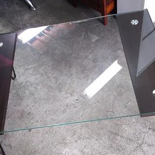 [ガラステーブル75×50]⁑リサイクルショップヘルプ