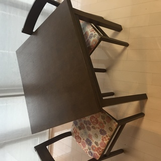 無印ダイニングテーブル、椅子2脚(中古)
