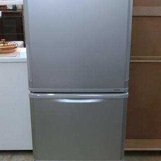 SHARP 3ドア 冷凍冷蔵庫 SJ-WA35B 2015年製 中古美品