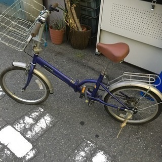 折りたたみ自転車 カゴ付き