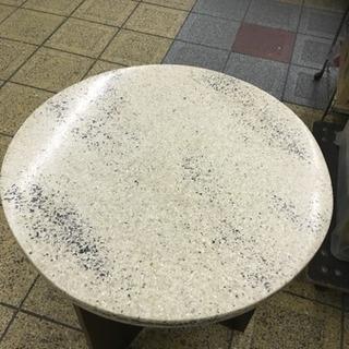 大理石調 円卓 直径56cm