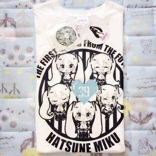 【新品・タグ付】初音ミク ホワイト・水色 Tシャツ シール付🌸